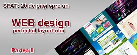 20 de paşi spre un WEB design perfect al layout-ului. Partea II