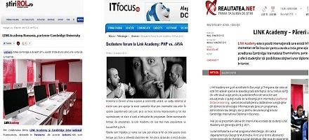 Ce spun portalurile din România despre LINK Academy