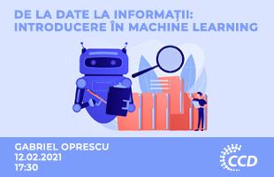 Seminarii -  Introducere în Machine Learning - de la date la informații