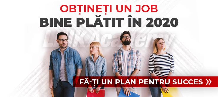 Fie ca 2020 să nu fie încă un an fără un loc de muncă, fă un plan și începe o carieră IT de succes.
