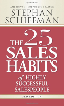 Book: The 25 sales habits of highly successful salespeople