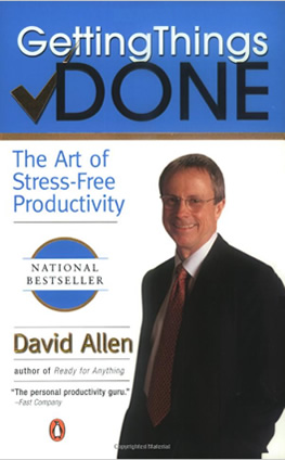 Book: Getting things done: The art of stress-free productivity