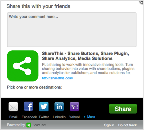 sharethis plugin
