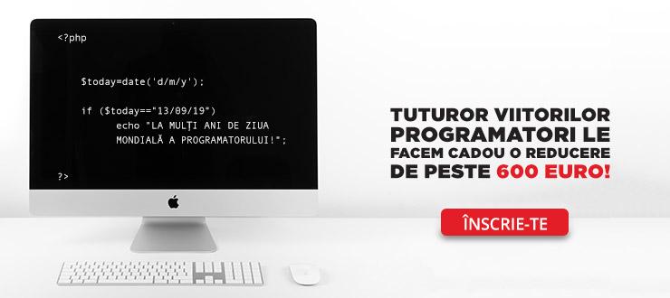 La mulți ani de Ziua programatorului! Va oferim cadou o reducere de 600€